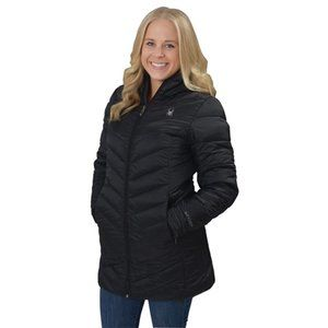 Spyder Boundless Quilted Hooded Long Jacket Large
